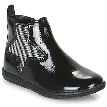 Topánky Dievčatá Polokozačky Kickers VERMILLON Čierna