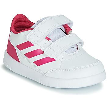 Topánky Dievčatá Nízke tenisky adidas Performance ALTASPORT CF I Biela / Ružová