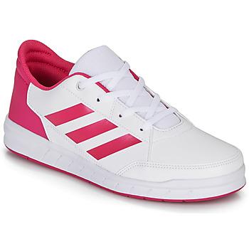 Topánky Dievčatá Nízke tenisky adidas Performance ALTASPORT K Biela / Ružová