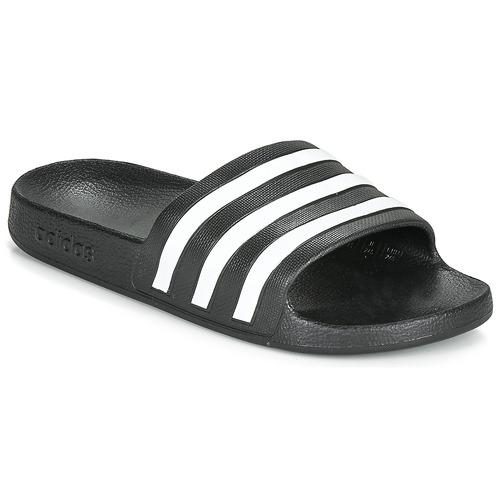 Topánky športové šľapky adidas Performance ADILETTE AQUA Čierna / Biela
