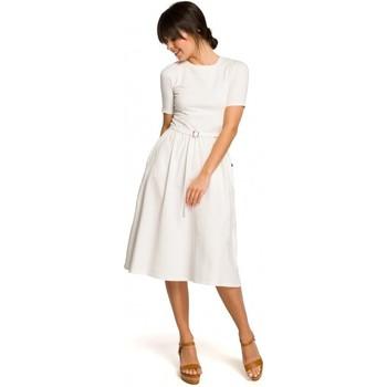 Oblečenie Ženy Cardigany Be B120 Priliehavé midi šaty - ružové