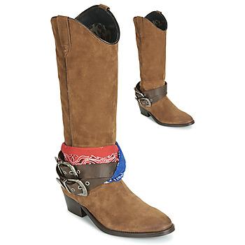 Topánky Ženy Čižmy do mesta Replay FRUITLAND Ťavia hnedá
