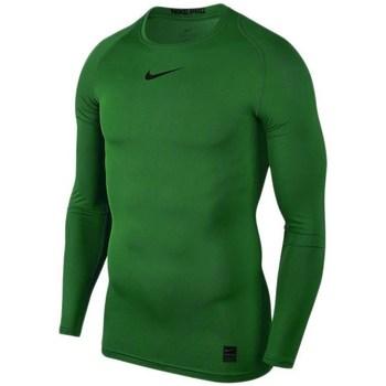 Oblečenie Muži Tričká s dlhým rukávom Nike Pro Top Compression Zelená