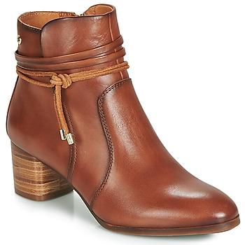 Topánky Ženy Čižmičky Pikolinos CALAFAT W1Z Hnedá