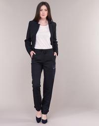 Oblečenie Ženy Nohavice Cargo G-Star Raw FELDSPAR HIGH STRAIGHT CARGO Námornícka modrá