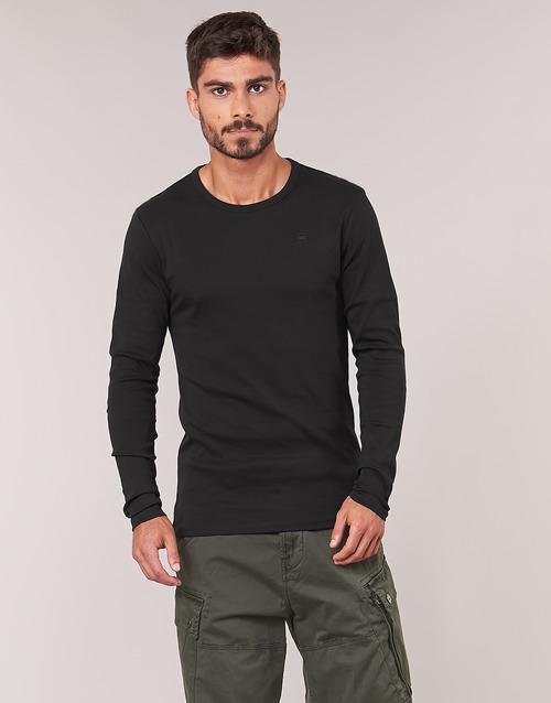 Oblečenie Muži Tričká s dlhým rukávom G-Star Raw BASE TEE Čierna