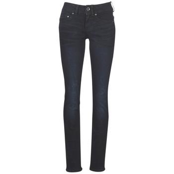 Oblečenie Ženy Rovné džínsy G-Star Raw MIDGE MID STRAIGHT WMN Modrá / Aged