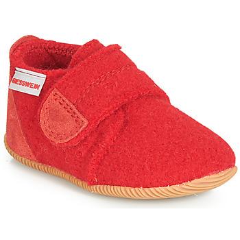 Topánky Deti Papuče Giesswein OBERSTAUFFEN Červená
