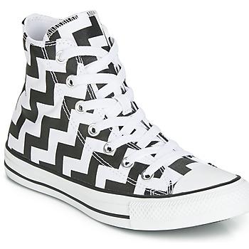 Topánky Ženy Členkové tenisky Converse CHUCK TAYLOR ALL STAR GLAM DUNK CANVAS HI Čierna / Biela