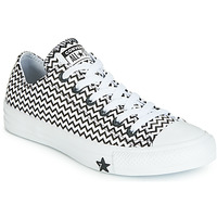 Topánky Ženy Nízke tenisky Converse CHUCK TAYLOR ALL STAR VLTG LEATHER OX Biela / Čierna