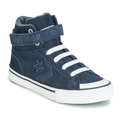 Topánky Deti Členkové tenisky Converse PRO BLAZE STRAP SPACE RIDE SUEDE HI Modrá