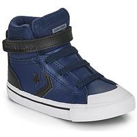 Topánky Deti Členkové tenisky Converse PRO BLAZE STRAP MARTIAN LEATHER HI Modrá / Čierna