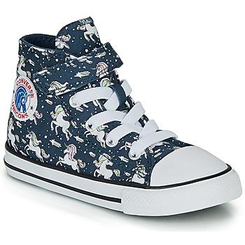 Topánky Dievčatá Členkové tenisky Converse CHUCK TAYLOR ALL STAR 1V UNICONS HI Modrá