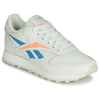 Topánky Ženy Nízke tenisky Reebok Classic CL LTHR Béžová / Modrá / Oranžová
