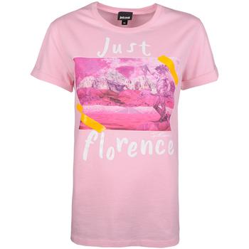 Oblečenie Ženy Tričká s krátkym rukávom Roberto Cavalli  Ružová
