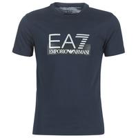Oblečenie Muži Tričká s krátkym rukávom Emporio Armani EA7 GPT81-PJM9Z-1554 Námornícka modrá