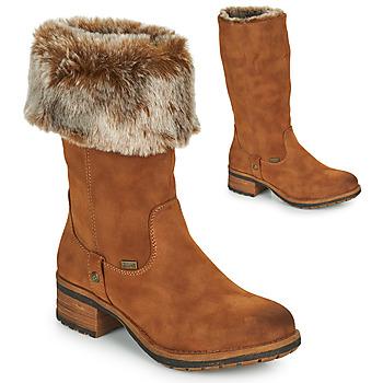 Topánky Ženy Čižmy do mesta Rieker 96854-26 Ťavia hnedá