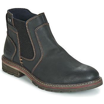Topánky Muži Polokozačky Tom Tailor MARTY Čierna