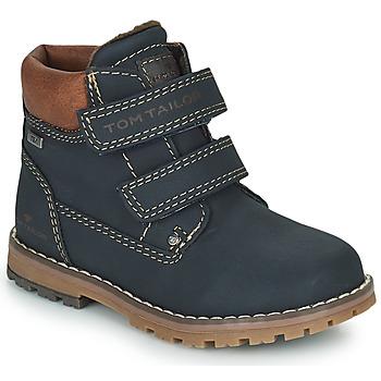 Topánky Chlapci Polokozačky Tom Tailor 73003-BLEU Modrá
