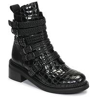 Topánky Ženy Polokozačky Mimmu RIPTILUS Čierna