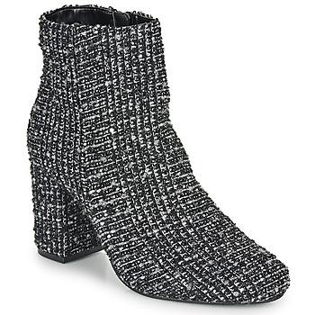 Topánky Ženy Čižmičky Moony Mood FRIPON Čierna / Biela