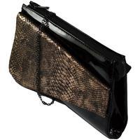 Tašky Ženy Spoločenské kabelky John-C Dámska čierno-zlatá kabelka COLLIR čierna
