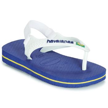 Topánky Chlapci Žabky Havaianas BABY BRASIL LOGO Námornícka modrá