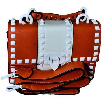 Tašky Ženy Tašky cez rameno John-C Dámska oranžová kabelka RECHO oranžová