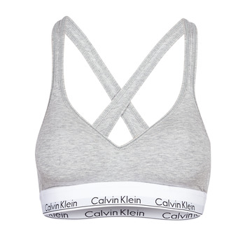 Spodná bielizeň Ženy Športové Calvin Klein Jeans MODERN COTTON BRALETTE LIFT Šedá