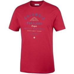 Oblečenie Muži Tričká s krátkym rukávom Columbia Leathan Trail Červená