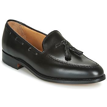 Topánky Muži Mokasíny Barker TASSEL Čierna