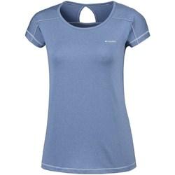 Oblečenie Ženy Tričká s krátkym rukávom Columbia Peak TO Point Modrá