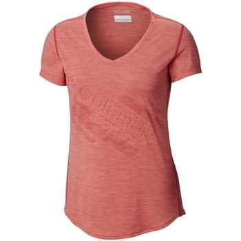 Oblečenie Ženy Tričká s krátkym rukávom Columbia Trinity Trail 20 Ružová