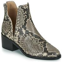 Topánky Ženy Polokozačky Steve Madden CONSPIRE Béžová / Hadí vzor