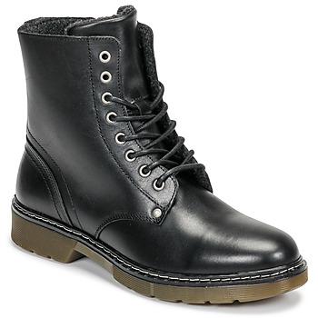 Topánky Dievčatá Polokozačky Bullboxer AHC501E6LC-BLBLK Čierna