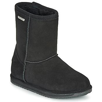 Topánky Deti Polokozačky EMU BRUMBY LO WATERPROOF Čierna