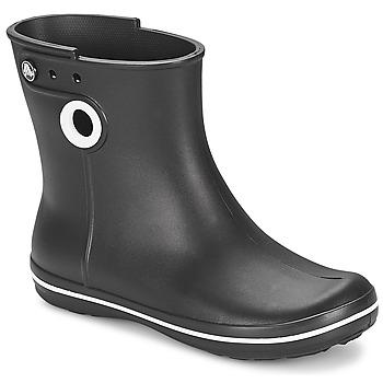 Topánky Ženy Čižmy do dažďa Crocs JAUNT SHORTY BOOT W-BLACK Čierna