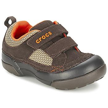 Topánky Chlapci Nízke tenisky Crocs DAWSON HOOK & LOOP Hnedá