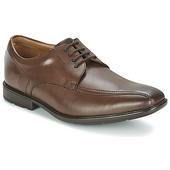 Topánky Muži Derbie Clarks GOSWORTH OVER Hnedá