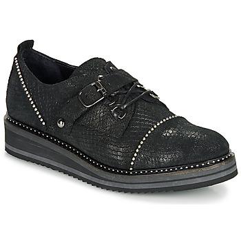 Topánky Ženy Derbie Regard ROCTALOX V2 TOUT SERPENTE SHABE Čierna
