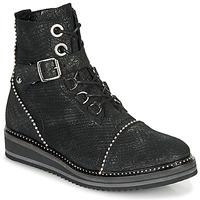 Topánky Ženy Polokozačky Regard ROCTALY V2 CRTE SERPENTE SHABE Čierna