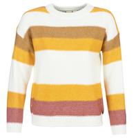 Oblečenie Ženy Svetre Roxy TRIP FOR TWO STRIPE Biela / Žltá