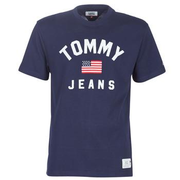 Oblečenie Muži Tričká s krátkym rukávom Tommy Jeans TJM USA FLAG TEE Námornícka modrá