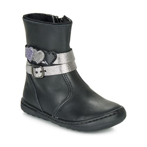 Topánky Dievčatá Polokozačky Citrouille et Compagnie LOMINE Čierna