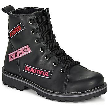 Topánky Dievčatá Polokozačky Citrouille et Compagnie LIBIDOU Čierna