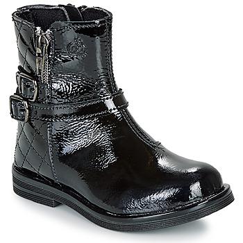 Topánky Dievčatá Polokozačky Citrouille et Compagnie LIMIDOU Čierna