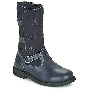 Topánky Dievčatá Čižmy do mesta Citrouille et Compagnie HANDRE Námornícka modrá