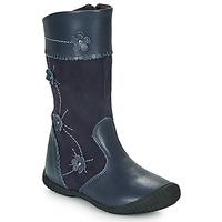 Topánky Dievčatá Čižmy do mesta Citrouille et Compagnie AMATIS Námornícka modrá