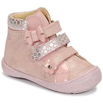 Topánky Dievčatá Polokozačky Citrouille et Compagnie HODIL Ružová