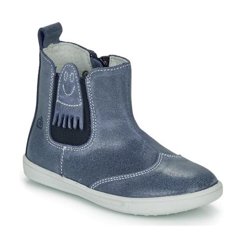 Topánky Chlapci Polokozačky Citrouille et Compagnie LESKIMO Modrá